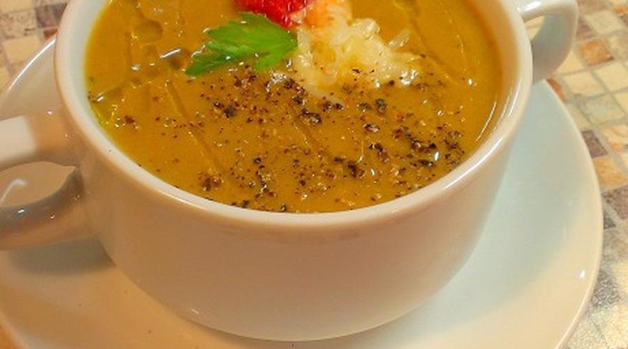 Delicious eggplant soup purée