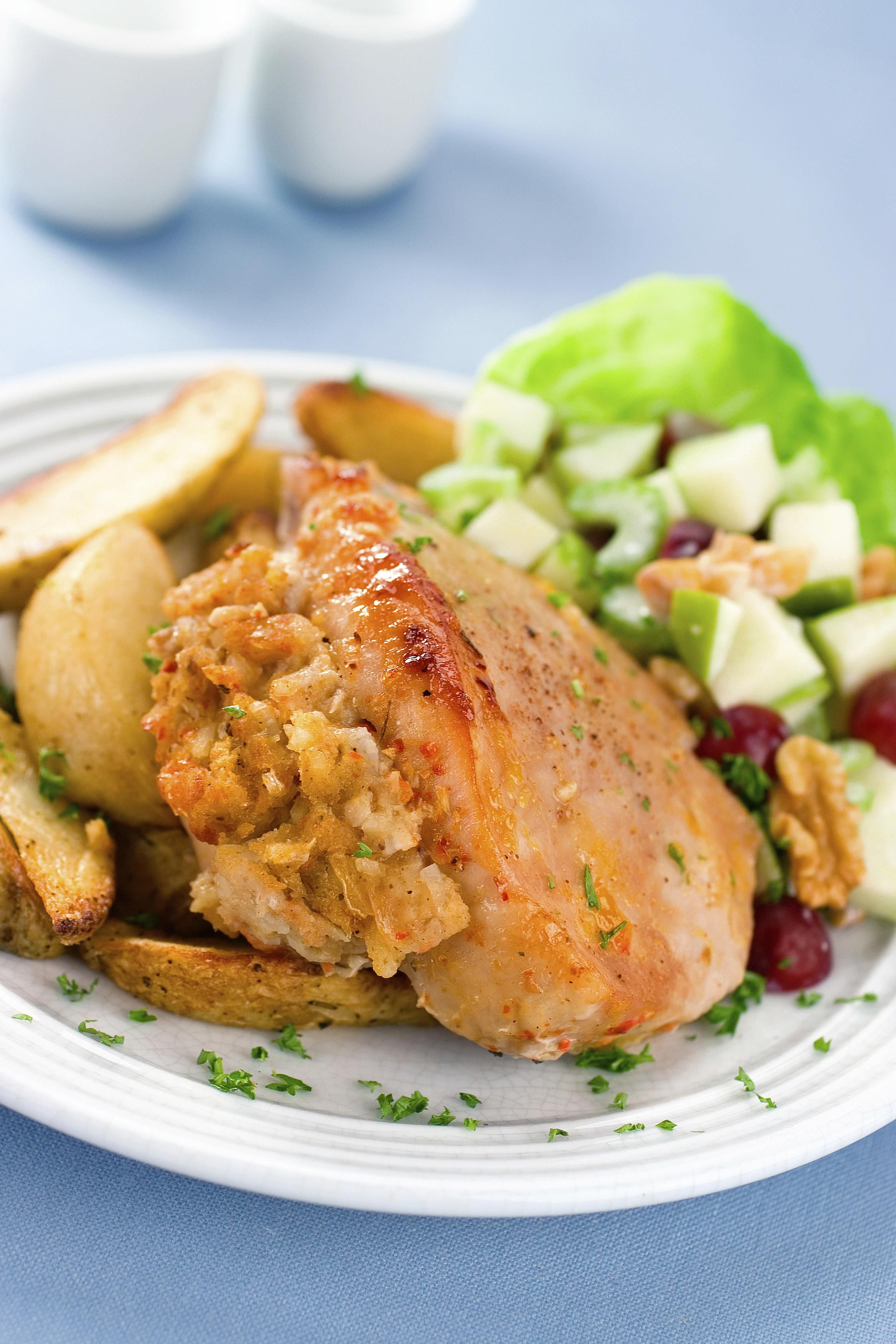 Pork chops with Orange and Cashew Nut Stuffing
