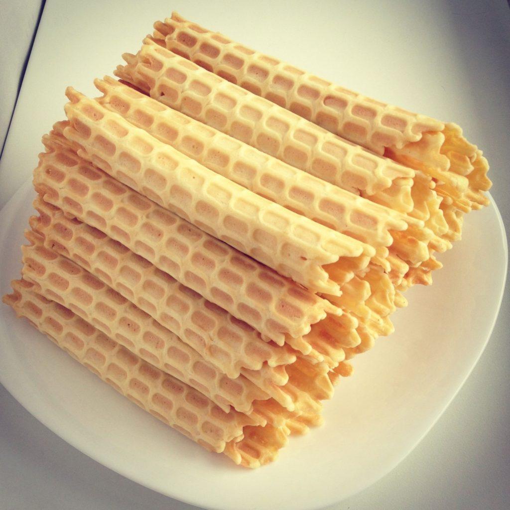 Crispy wafers, Russian recipe