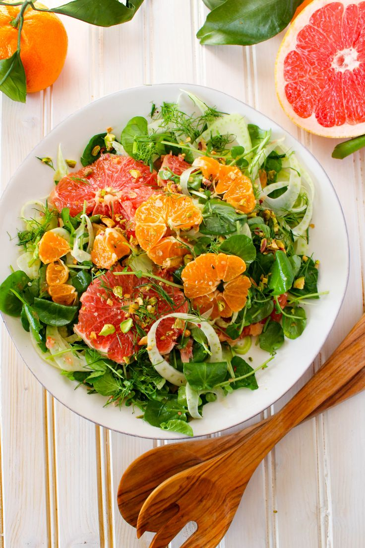 Winter Citrus Fruit and Green Salad