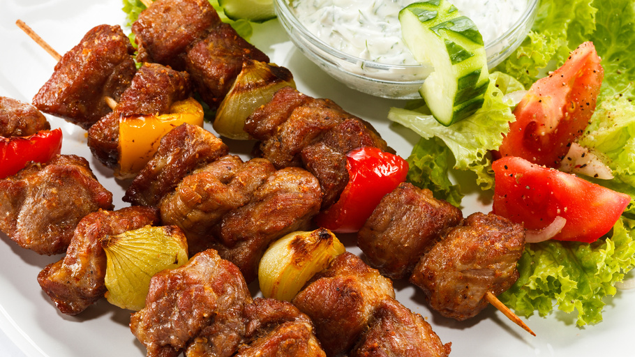 Amazing shish kebab in the oven bag