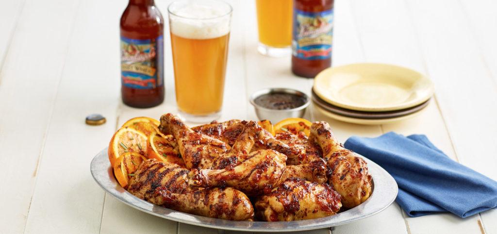 Chicken in Asian glaze and dark beer