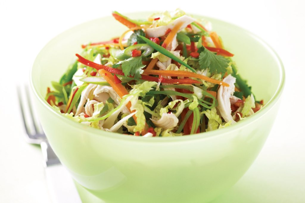 Green salad in Asian style