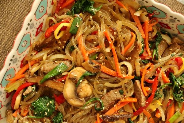 Potato noodles with vegetables