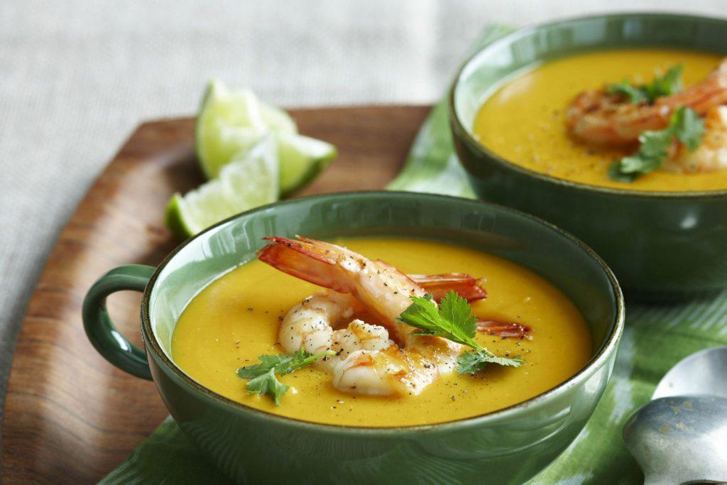 Pumpkin soup in Asian style