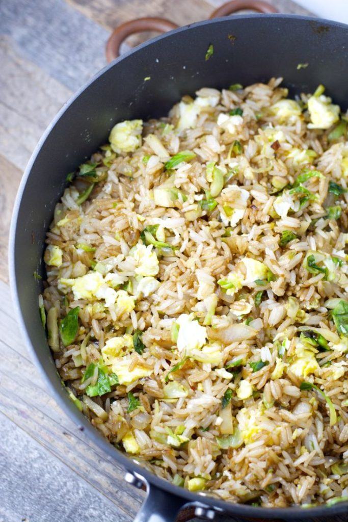Rice with wheat sprouts and vegetables