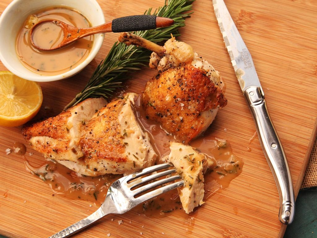 Sophisticated chicken breast in soy-orange sauce with honey