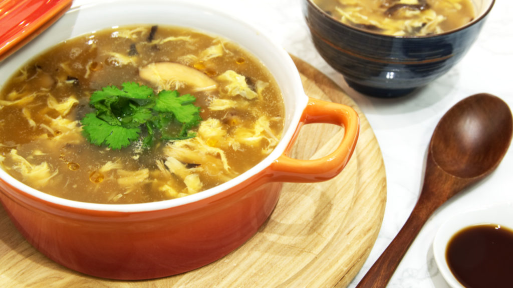 Tasty soup of fake shark fins