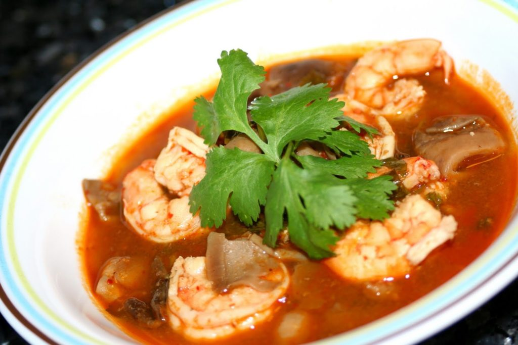 Tom yam with shrimps