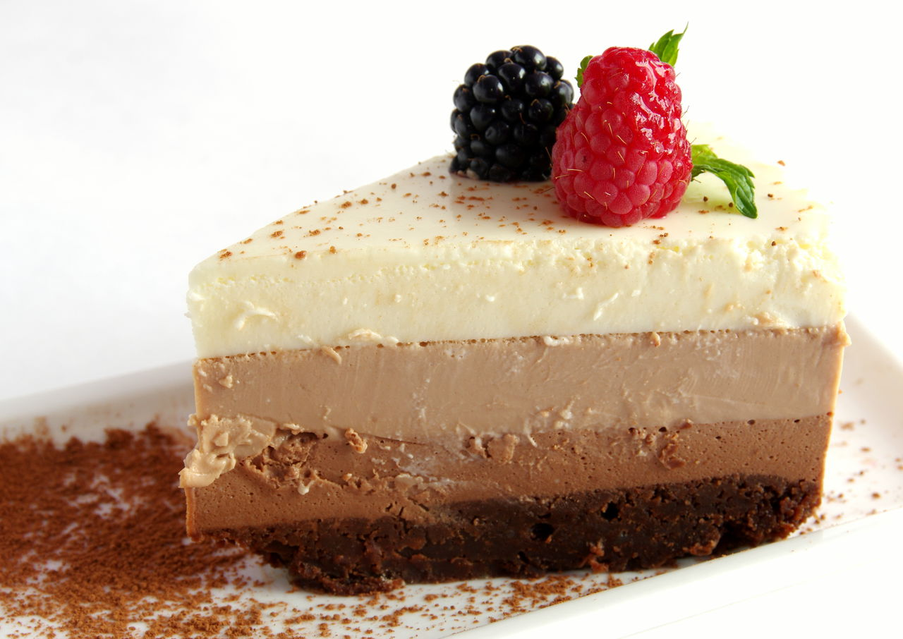 "Tender cake ""Three Chocolates"""