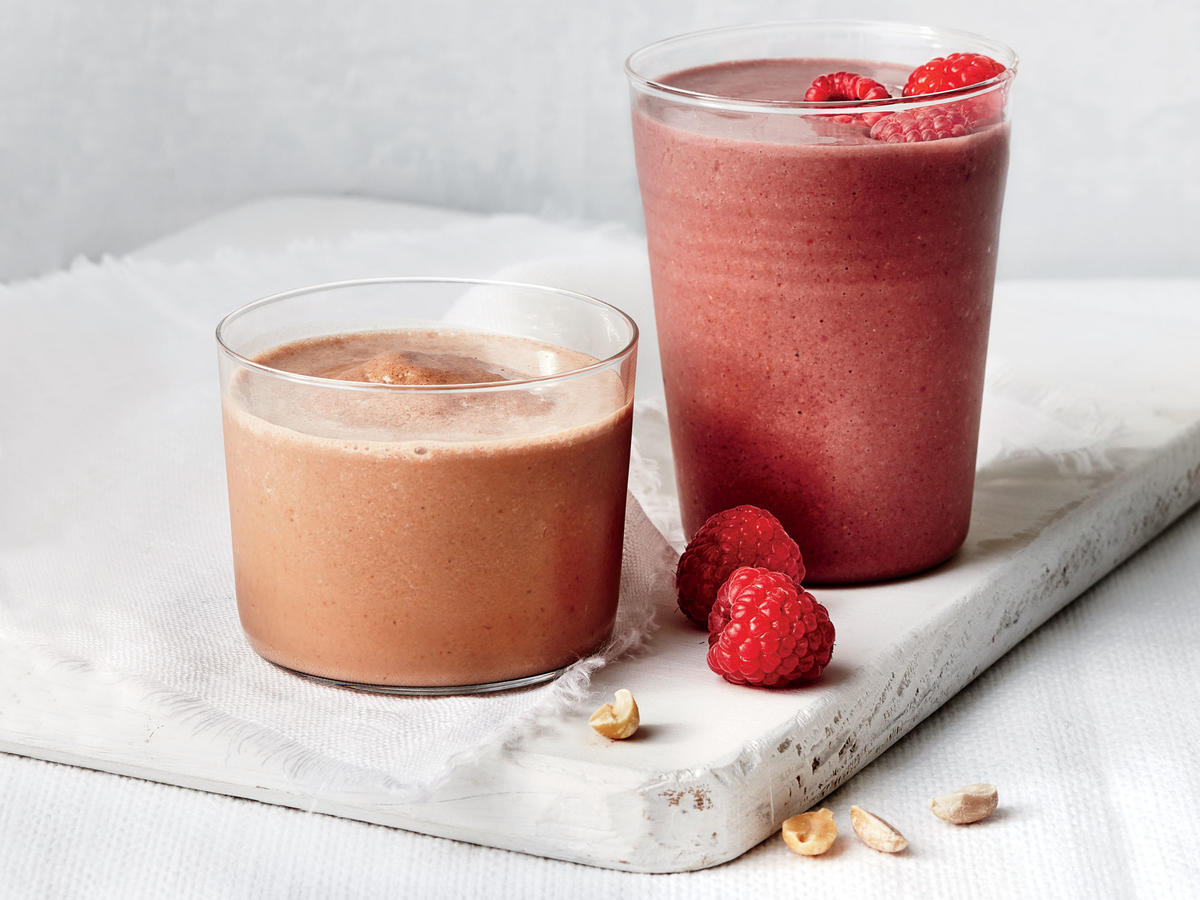 Dark Chocolate and Cran-Raspberry Smoothie