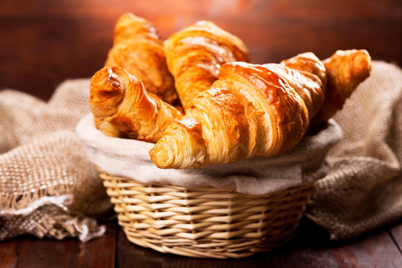 Elegant homemade croissants