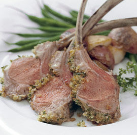 Lamb with herb crusts