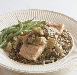 Rice, Mushrooms and Salmon en Papillote