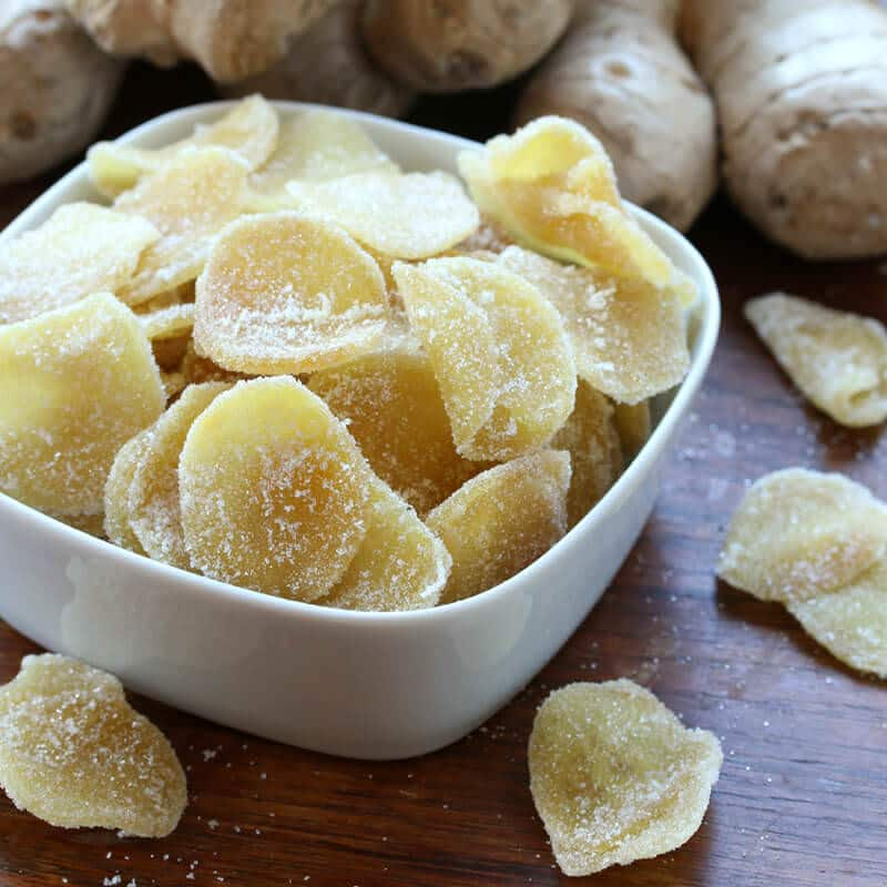 Candied ginger yummy