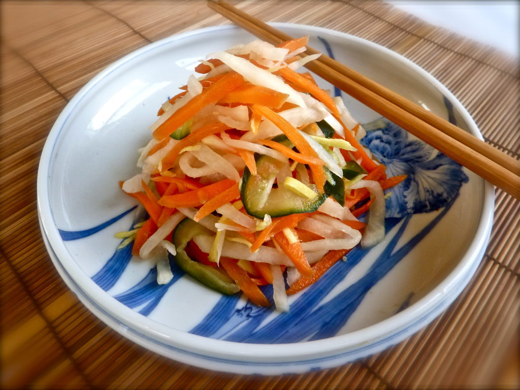 Marinated vegetables in Asian style