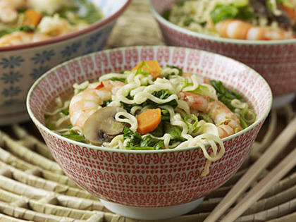 Soup with vermicelli and shrimps
