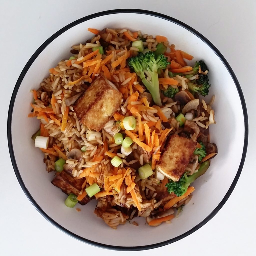 Stir-fry of mushrooms and carrots