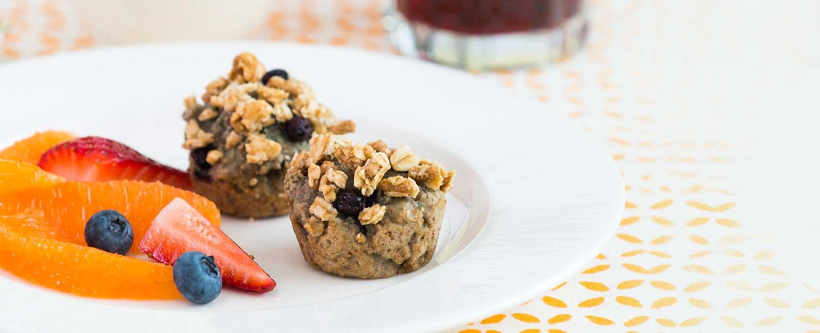 Amazing Grape Berry Crunch Muffins