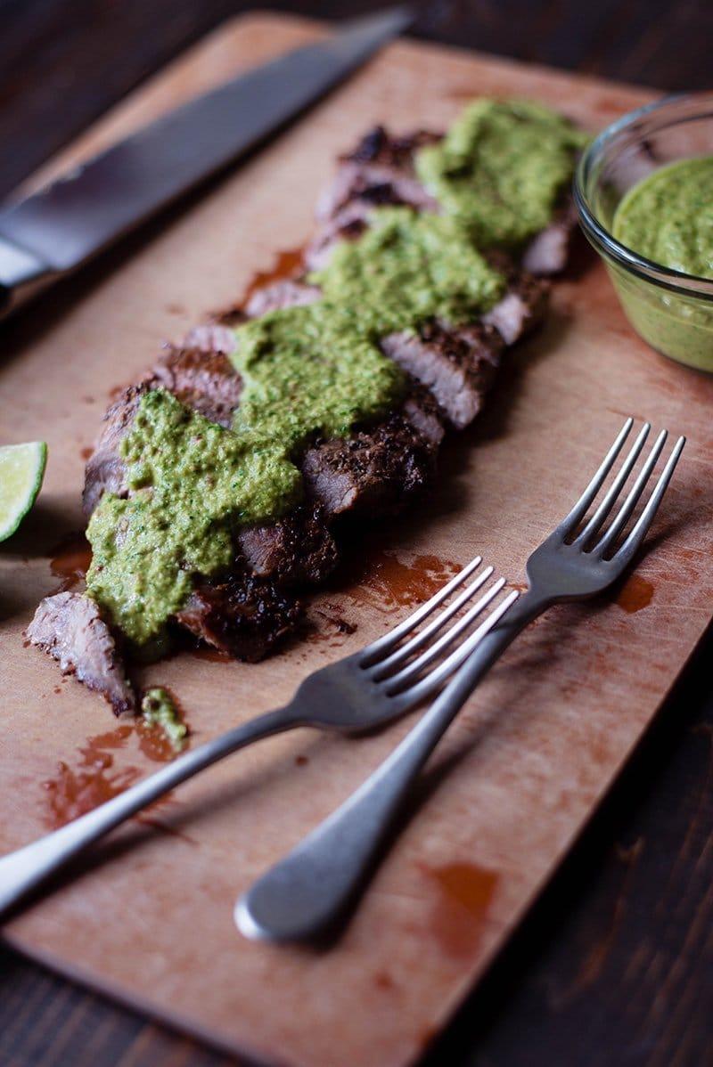 Flank Steak with Chimichurri Steak