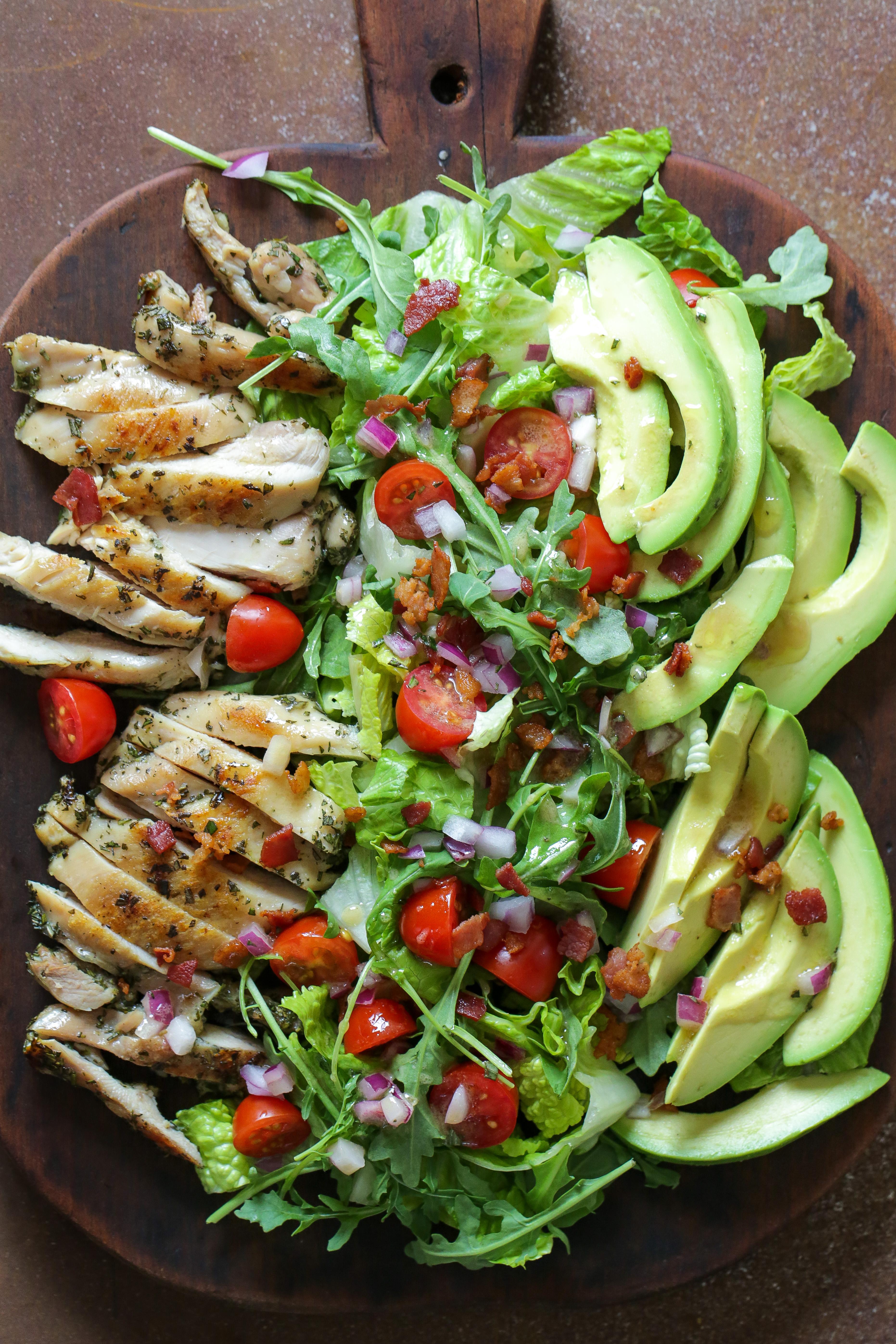 Rosemary Bacon, Chicken and Avocado Salad