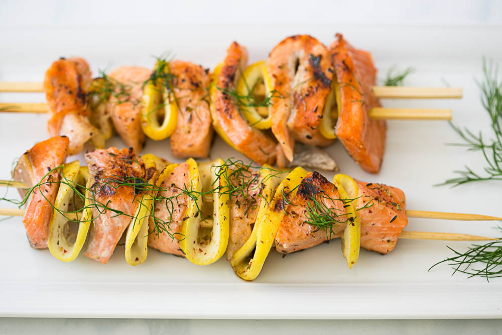 Salmon Citrus Skewers