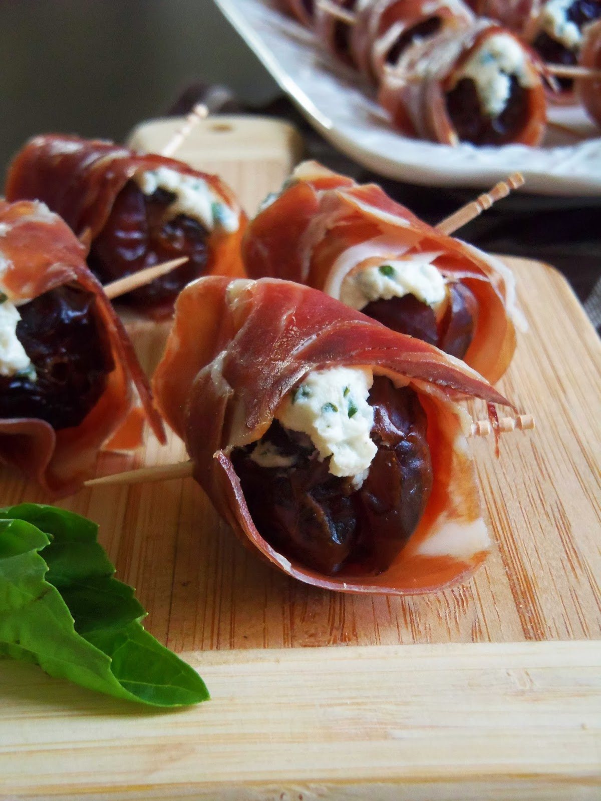 Prosciutto Goat Cheese Stuffed Dates