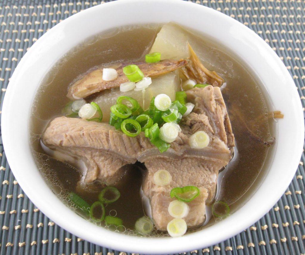 Asian pork soup