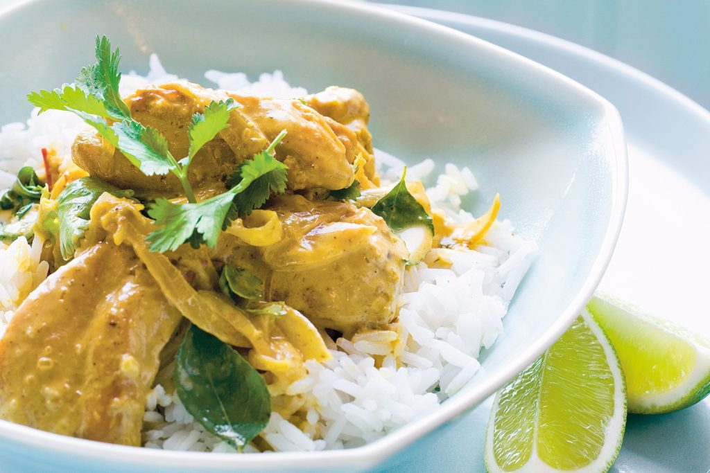 Curry chicken with coconut milk