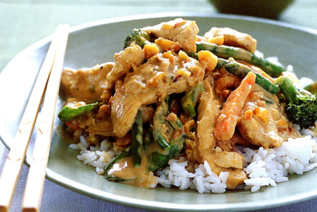 Curry chicken with vegetables