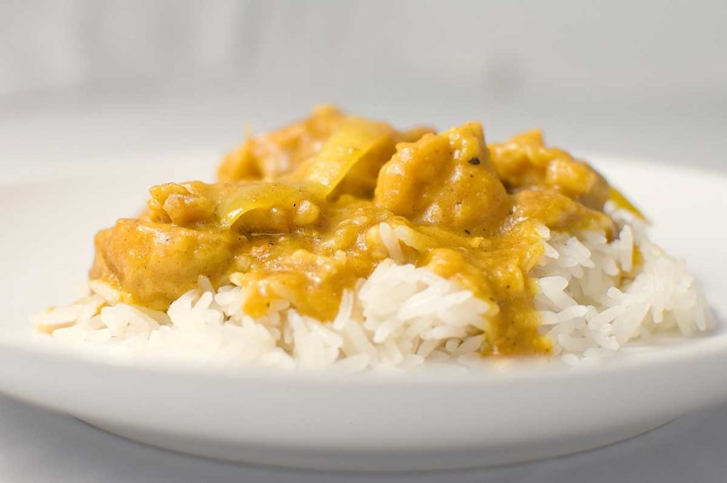 Curry recipe with chicken and rice