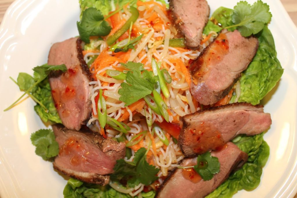 Duck breast in Asian style
