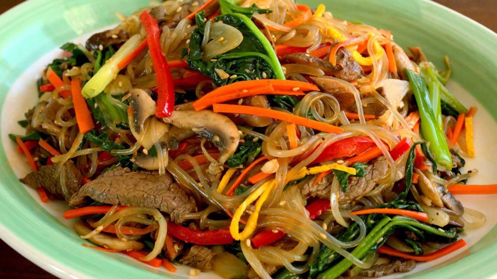 Meat in Korean style with Cellophane noodles