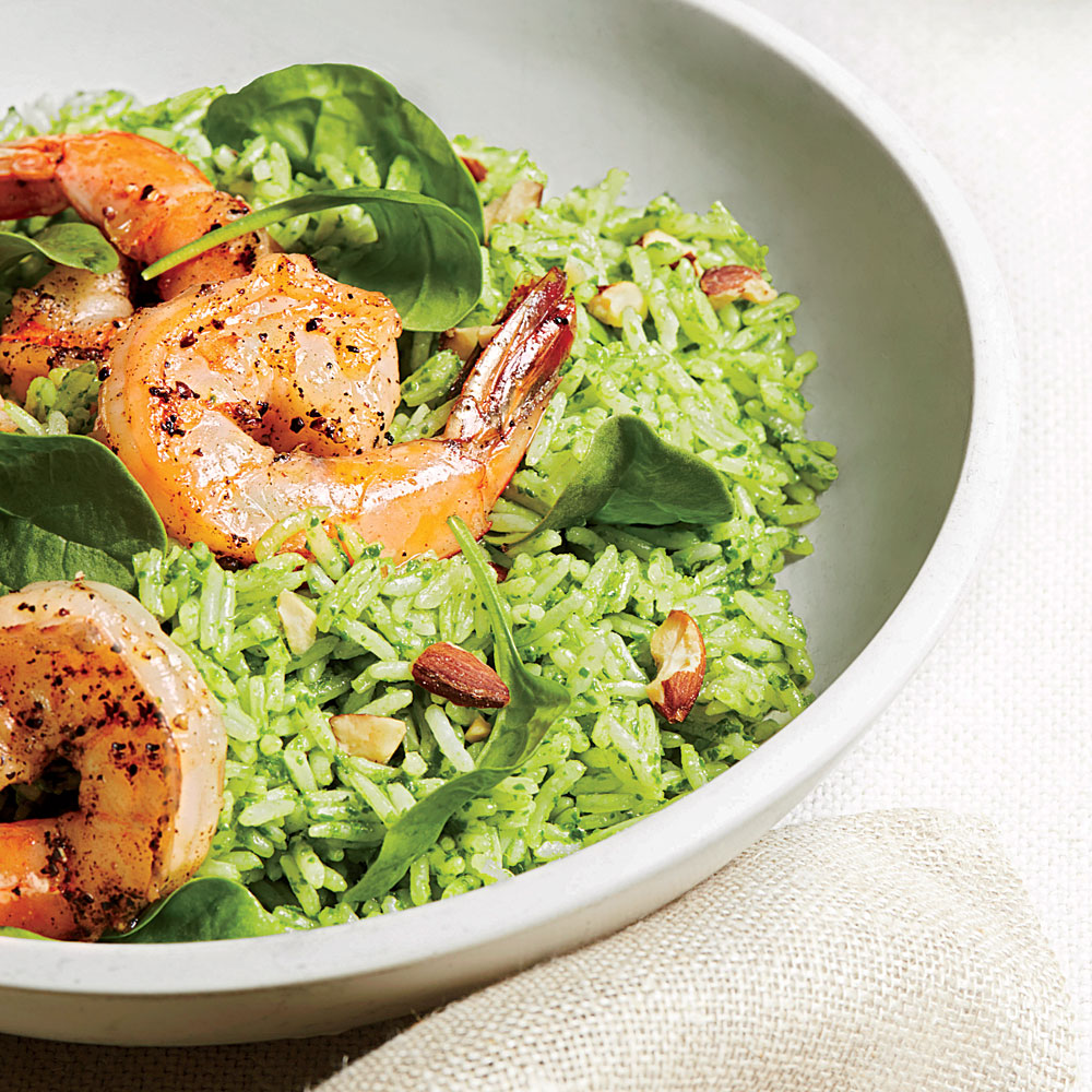 Rice salad with shrimps