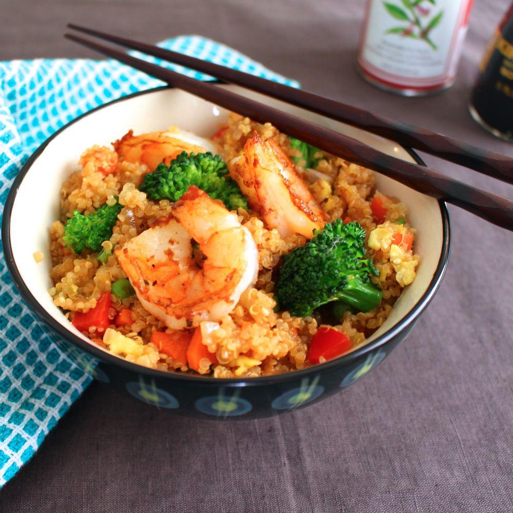 Quinoa Shrimp Fried Rice