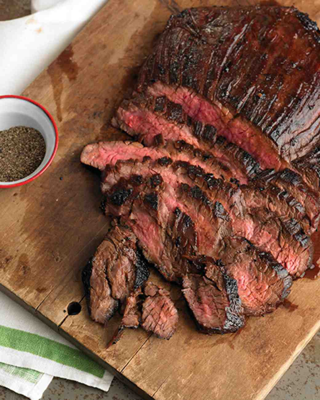 Stir Fried Soy Marinated Flank Steaks