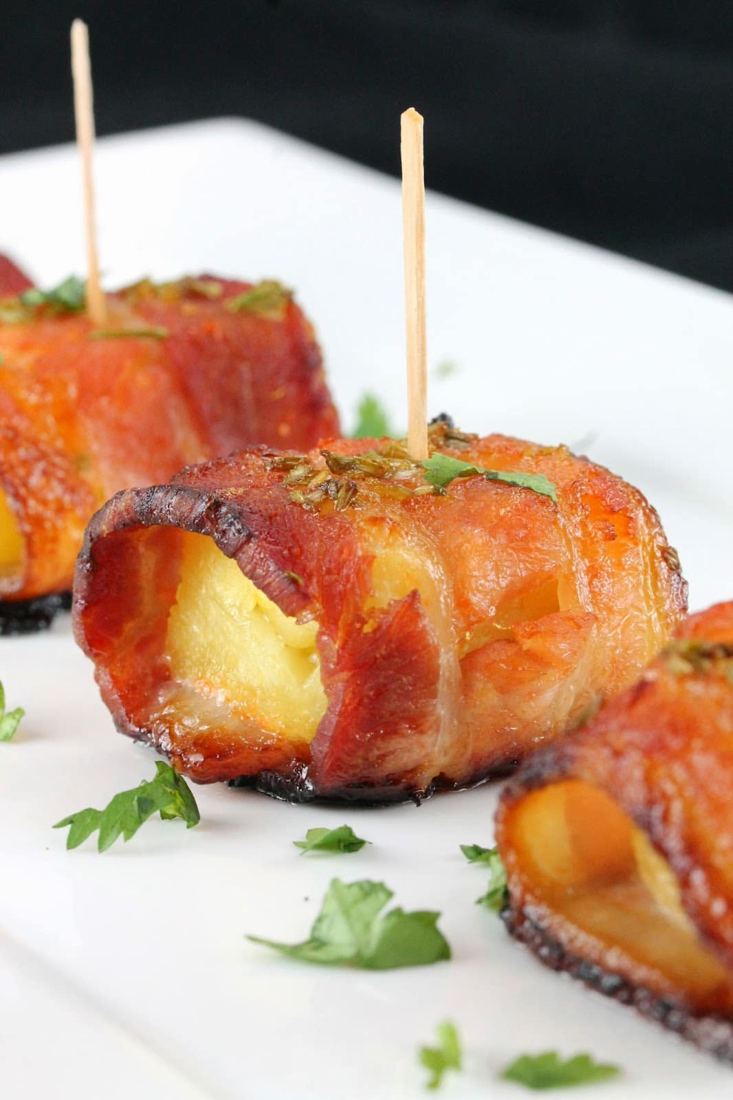 Bacon Wrapped Honey Sriracha