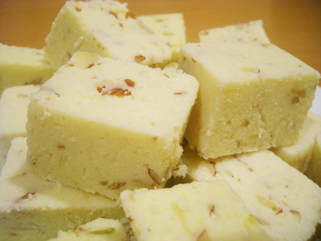 "Traditional sweets of Indian cuisine - ""Burfi"""