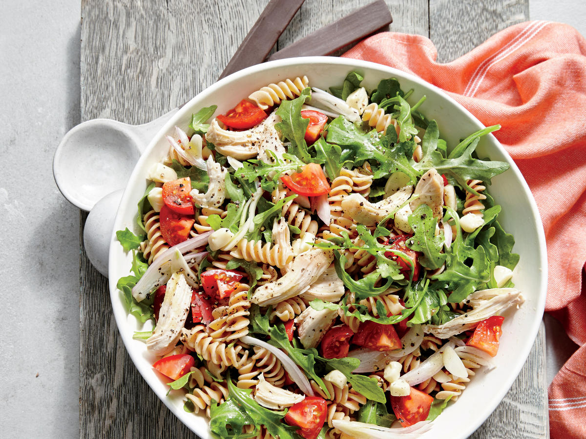 Tomato And Arugula Balsamic Pasta Salad