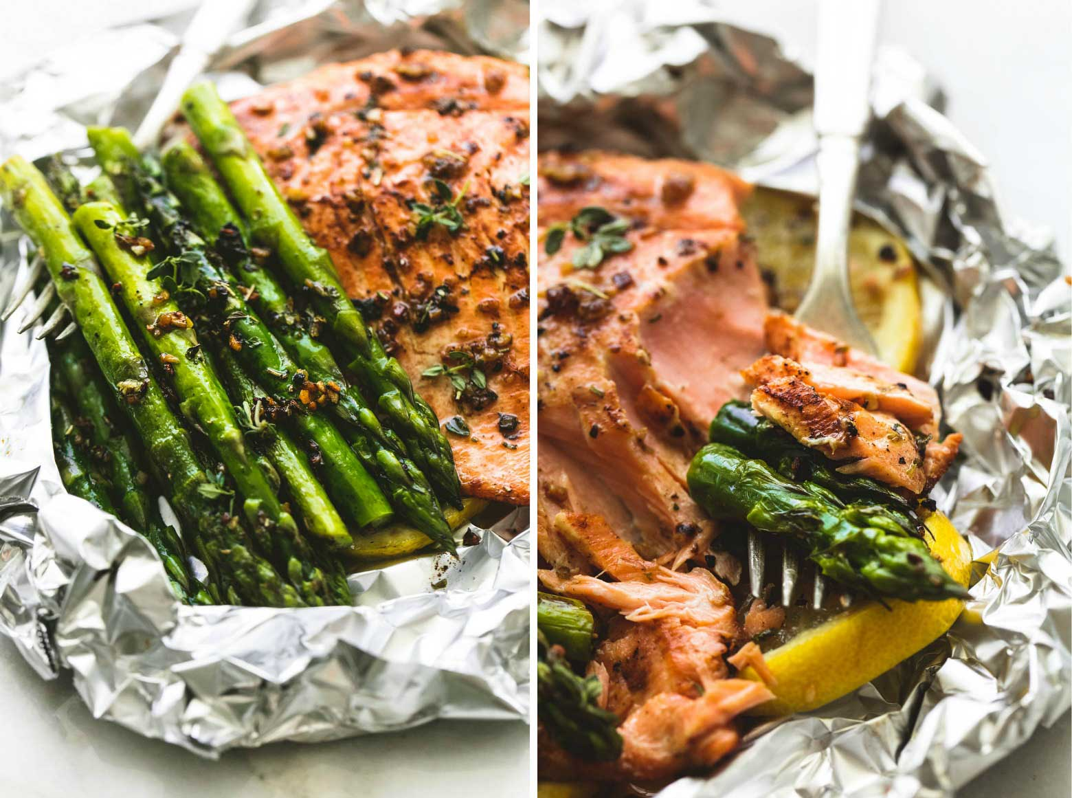 Herb Butter Salmon and Asparagus Foil Pack