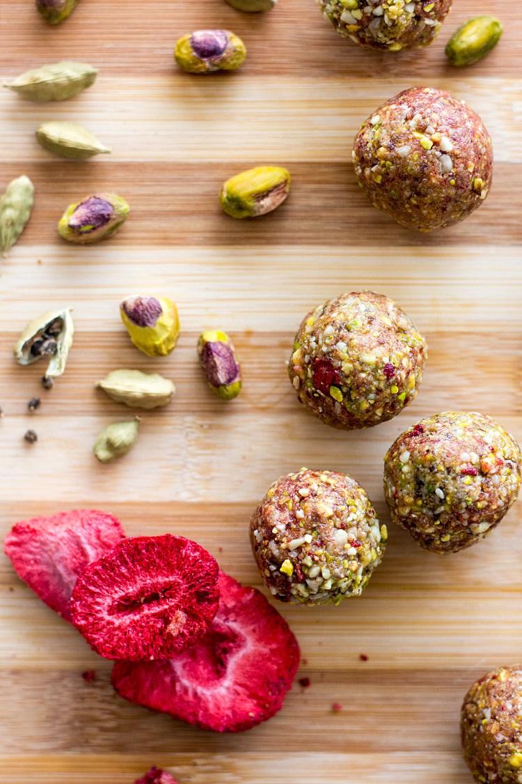 Pistachio Strawberry Balls