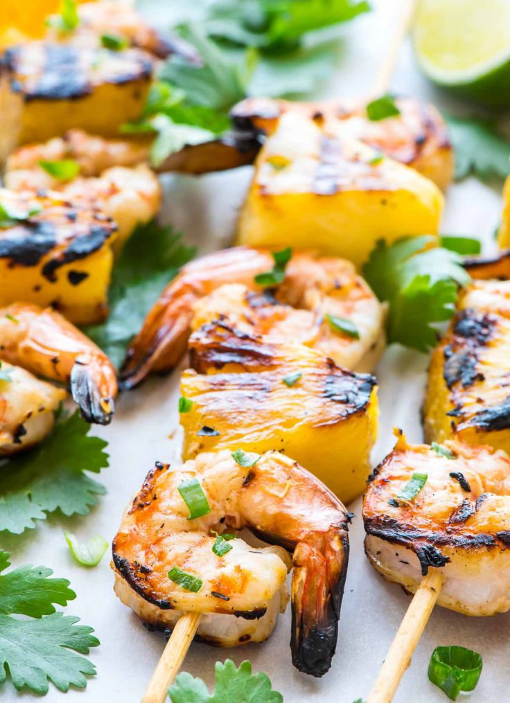 Agave Cilantro Shrimp Skewers with Spicy Citrus Dipping Sauce