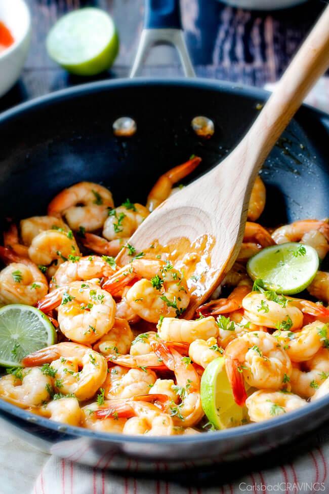 Asian Sweet Chili Shrimp