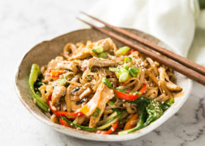 Chicken Stir Fry Rice Noodles