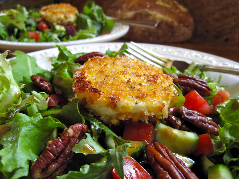 Baked Goat Cheese Rounds