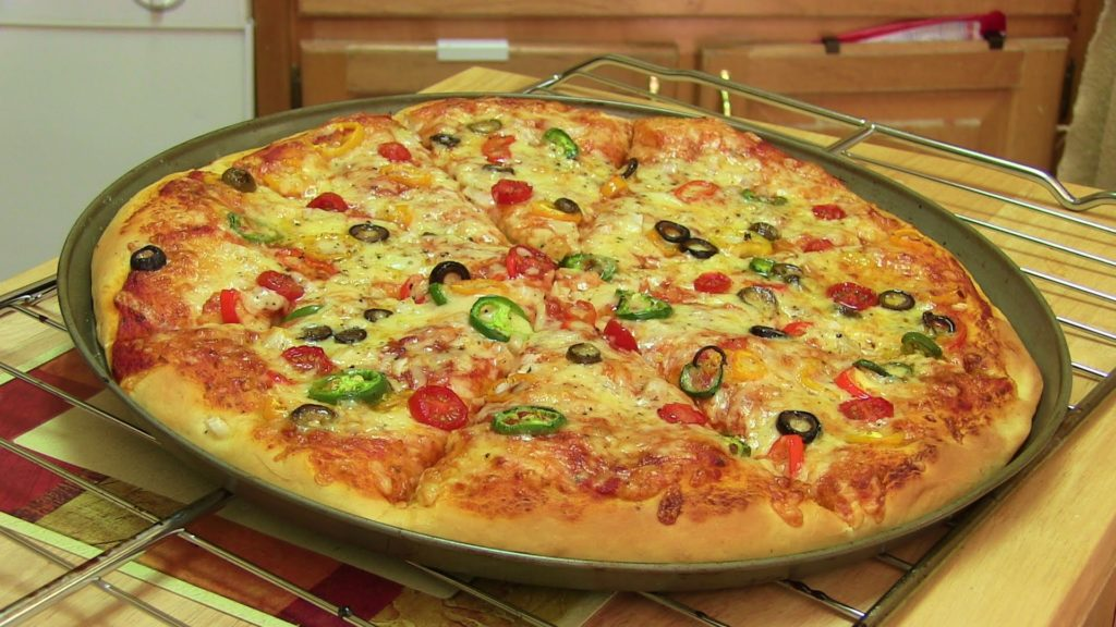 Quick prepared pizza