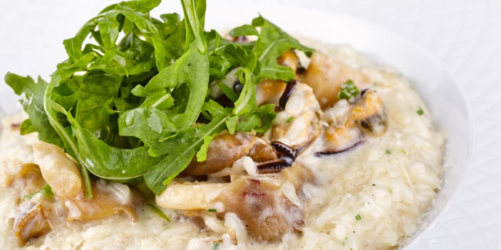 Risotto with seafood: a traditional Italian dish on your table