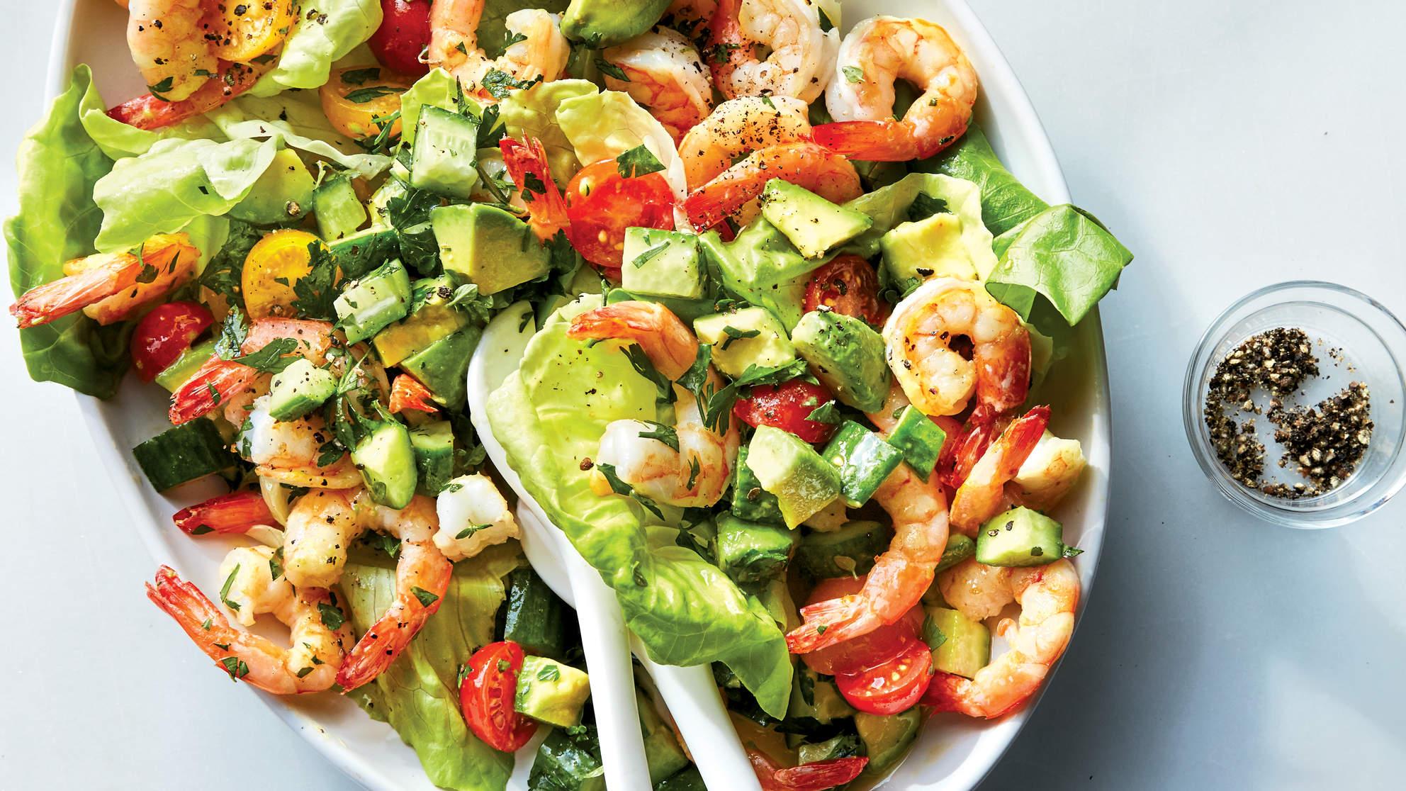 Shrimp Avocado Tomato Salad