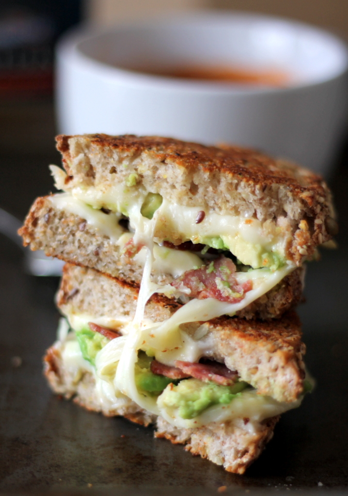 Turkey, Bacon and Avocado Grilled Cheese