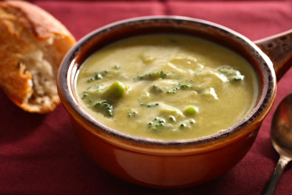 Cheese soup with broccoli is amazingly delicious!